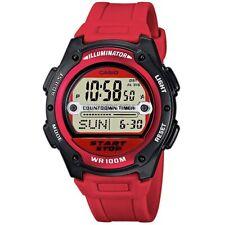 Casio Uhr W-756-4AVES Herren Damen Digitaluhr Armbanduhr Schwarz Rot NEU & OVP