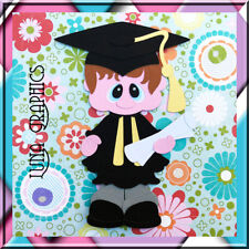 GRADUATION BOY EMBELLISHMENT Paper Piecing card making & scrapbooking