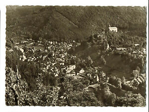 Schwarzburg, Dittersdorf, Luftbild, gel. s/w Ansichtskarte von 1963