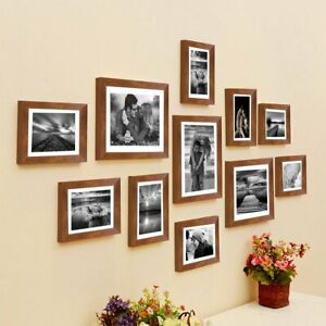 Brown Boulevard Set of 11 Individual Photo Frame Wall Hangings Synthetic Wood