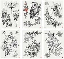 Temporary Tattoos for Women Kids Teen Arm Tattoo Fake Tattoo Pack of 6# 3