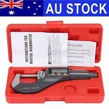 AU Electronic External Digimatic Digital Micrometer 25mm Outside 0-1''/0.00005''