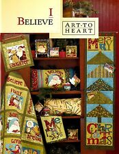 I BELIEVE Nancy Halvorsen Quilt Applique NEW BOOK Christmas Projects Santa Apron