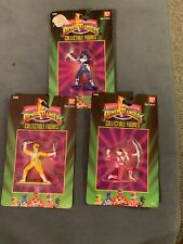 BAN DAI MIGHTY MORPHIN POWER RANGERS Blue,yellow Pink Collectible Figures 2300