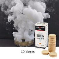10 Stück Weiß Rauchpillen Rauchbombe SMOG Halloween Smok Prop  Rauch Somb Pillen