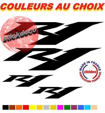 Stickers R1 -x4  Autocollant adhésif Yamaha YZFR1 YZF  MOTO CARENAGE CASQUE