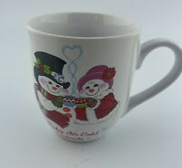 Fritz And Floyd Furry Folk Baby Its Cold  Outside Snow  flake Christmas Mug