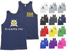 Pi Kappa Phi Fraternity Star Shield Bella + Canvas Tank Top Shirt - NEW