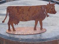 Edelrost Kuh Eisenfigur Dekoration Garten Figur Bauernhof Tier