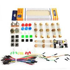 Basic Electronics starter kit, breadboard, power module, Ressistors, cables, etc