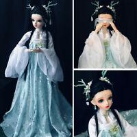 60cm BJD Doll 1/3 Kugelgelenk Mädchen Puppe + Gesichts Makeup + Augen + Kleidung