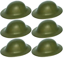 WW2 PLASTICA CASCO Cappelli Aria Raid Warden o Esercito Cappello Fancy Dress Party Dress LOTTO