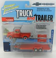 2018 Johnny Lightning *TRUCK & TRAILER 2A* 1950 Chevy Pickup w/FLATBED TRAILER