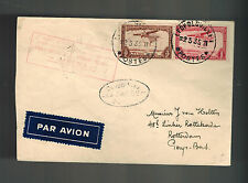 1935 Leopoldville Belgian Congo to Brussells Belgium First flight cover FFC Sabe