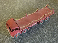 DINKY TOYS No.505 FODEN FLAT TRUCK WITH CHAINS 2ND TYPE CAB CHAINS RENEWED