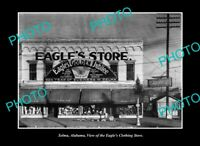 OLD POSTCARD SIZE PHOTO SELMA ALABAMA, VIEW OF THE EAGLES STORE c1950