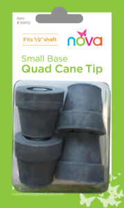 Tips for Small Quad Cane Grey 4 Each #50012GR