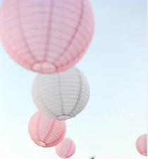 24x pink white paper lanterns engagement wedding birthday party venue decoration