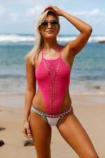 Costume Da Bagno Aperto Uncinetto Crochet Monokini Neoprene Swimwear Swimsuit S