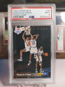 1992 Upper Deck Basketball Shaquille Oneal Rookie Trade Card 1b PSA 9