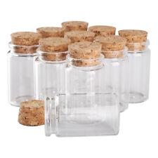 30pcs 40ml 37x60mm Transparent Glass Spice Bottles Jars with Cork Stopper