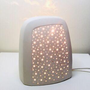 Vintage Pottery Night Light Bedside Lamp Night Sky Effect Illumination Spots PAT