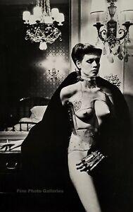 1979 Original HELMUT NEWTON Female Nude Fashion Metal Hand Large Photo Litho Art