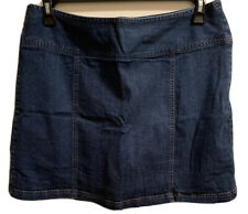 St Johns Bay Womens 16 Blue Jean Skort