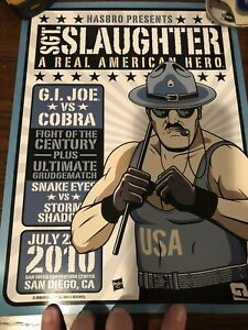 """SGT. Slaughter G.I. Joe Hasbro 2010 SDCC Exclusive Poster 9"""" X 12"""""""