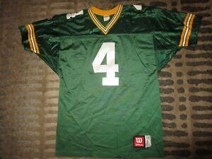 Brett Favre #4 Green Bay Packers Wilson Premier Sewn NFL Jersey LG Large Mens