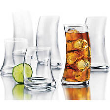Libbey Swerve 16-Piece Tumbler and Rocks Glass Set