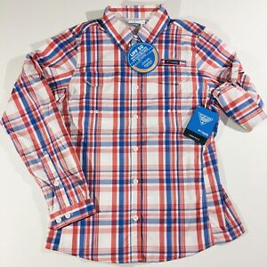 COLUMBIA PFG Omni-Shade UPF-50 Women's Sz L Button-Down L/S Shirt Omni-Wick NWT