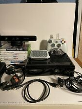 XBOX 360 250GB Slim Black Console bundle with Kinect and 9 Games And Box!
