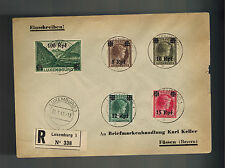 lot 3 1941 Luxembourg Covers to Germany Occupation Overprints # N17-N32
