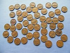 1951-D Lincoln Wheat Cent One Roll of 50 Brown Pennies Circulated VG-EX