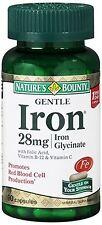 Nature's Bounty Gentle Iron 28 mg Capsules 90 Capsules