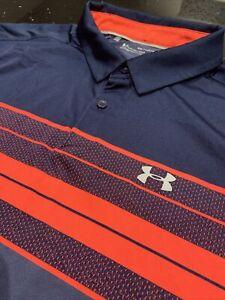 UNDER ARMOUR Vanish HEATGEAR Blue GOLF Polo Shirt Mens Size XXL In Gr8 Cond L@@K