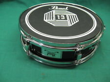 Pearl steel shell 13 dia by 4 1/2 inch snare drum Clean and Tested