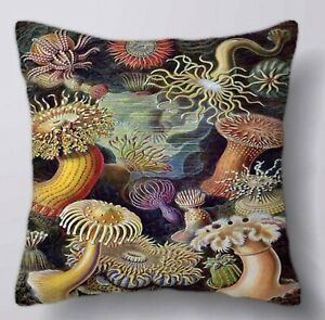 Ernst Haeckel Quality Cushion with Insert, Jellyfish Cushion, Velvet Cushion