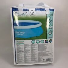 Flowclear Bestway 10ft Pool Solar Cover Fast Set Pool Warming Blue - New in Bag