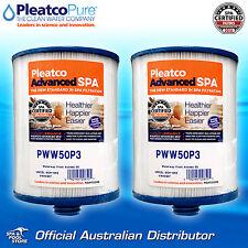 2 x Genuine OEM Pleatco PWW50P3 Pool Spa Water Filter - Signature Waterway 50