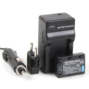Cargador + Batería NP-FH50 1050mAh para Sony DCR-SR35, SR33, SR85, SR52, SR50