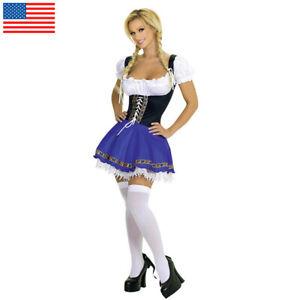 Women's Oktoberfest Beer Wench Costume Serving Maid Fancy Dress