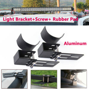 2x Car SUV Pickup RV Roof Rack Mount Bracket Clamps LED Work Light Bar Holder