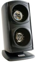 Versa Automatic Double Watch Winder - Black  4 Settings Bi-directional per Motor