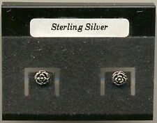 Rose Sterling Silver 925 Studs Earrings Carded