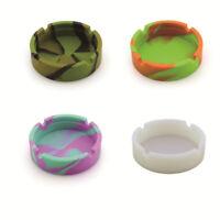 Portable Silicone Round Ashtray Holder Anti-scalding Cigarette Holder BB