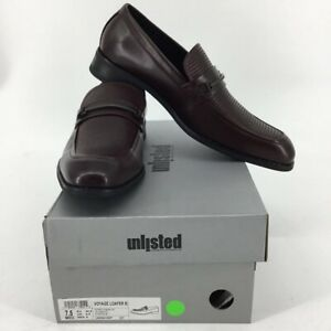 Kenneth Cole Unlisted Mens Voyage Horsebit Loafer Shoes Caoba Toe 7.5 M New