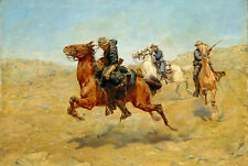 Art Oil painting Charles Schreyvogel - Minha Bunkie horsemen Shooting canvas