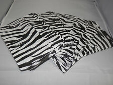 100 Size 5x7 Zebra Bags Merchandise Flat Paper Bags, Black and White Striped bag